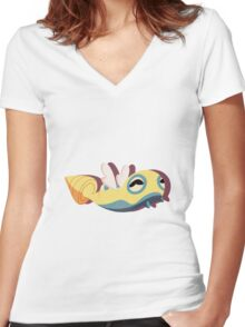 dunsparce. Women's Fitted V-Neck T-Shirt