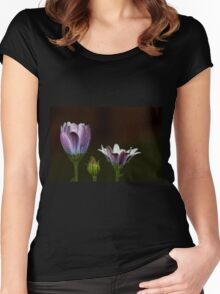 Three flowers Women's Fitted Scoop T-Shirt