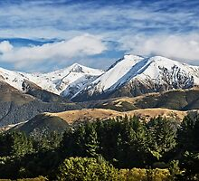Snow on Southern Alps #2 by Roger Neal