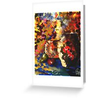 Vibrant Dabs Greeting Card