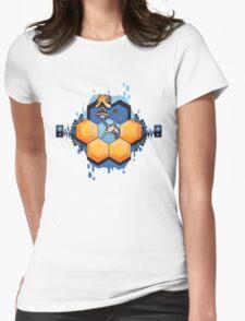 Blue Honey Mushroom Head Womens Fitted T-Shirt