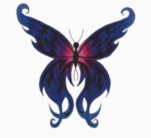 Tribal Butterfly Tee by Lynsye Medalia