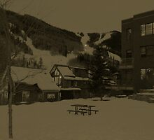 A Ski Town at Night by LostJourney