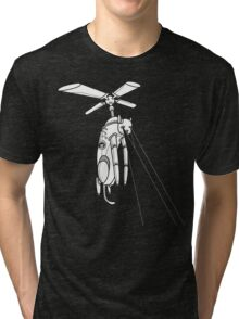 Cat Helicopter searching at ya Tri-blend T-Shirt