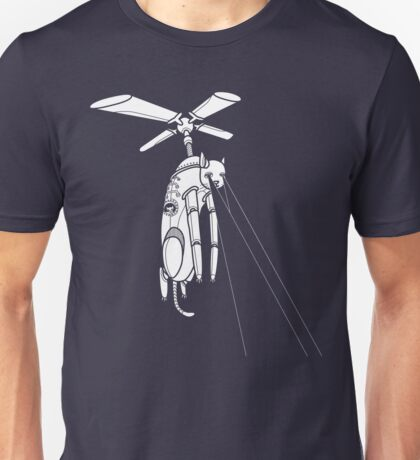 Cat Helicopter searching at ya Unisex T-Shirt