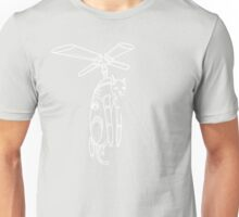 Cat Helicopter searching at ya outline version Unisex T-Shirt