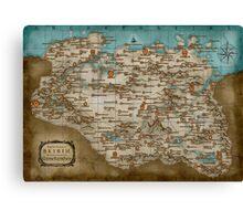 The land of Skyrim Canvas Print