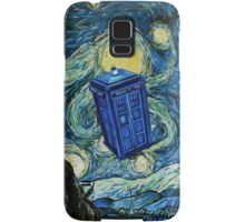 Starry Night Flying Tardis Doctor Who Samsung Galaxy Case/Skin