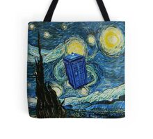 Starry Night Flying Tardis Doctor Who Tote Bag