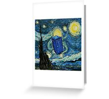 Starry Night Flying Tardis Doctor Who Greeting Card