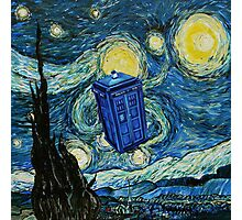 Starry Night Flying Tardis Doctor Who Photographic Print
