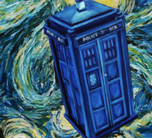 Starry Night Flying Tardis Doctor Who Sticker