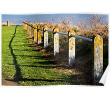 Clifftop Fence Poster