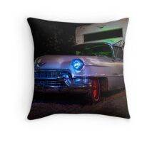 The Old Cadillac on Hemlock Street Throw Pillow