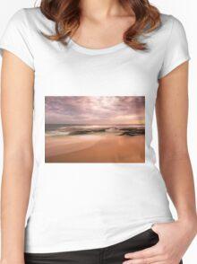"Koonya back beach Sorrento   ""Muted Hues""  Women's Fitted Scoop T-Shirt"