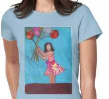 Balloon Girl Womens Fitted T-Shirt
