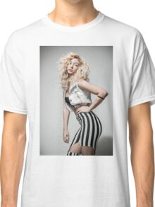 Flirting Young Hip female teen with blond curly hair  Classic T-Shirt