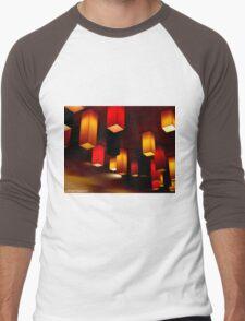 Colour Blocks Men's Baseball ¾ T-Shirt