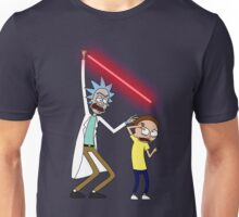 Rick and Morty Saber Battle Unisex T-Shirt