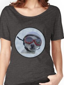 Chihuahua and the Bike Safety Message Women's Relaxed Fit T-Shirt