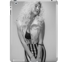 Flirting Young Hip female teen with blond curly hair  iPad Case/Skin
