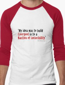 Bill Shankly - Bastion of Invincibility Men's Baseball ¾ T-Shirt