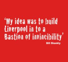 Bill Shankly - Bastion of Invincibility (Dark Tees) by Anfield Online