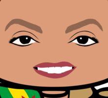 Dilma Rousseff Politico'bot Toy Robot 1.0 Sticker