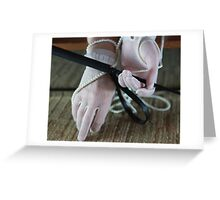 Riding crop and vintage lace gloves Greeting Card
