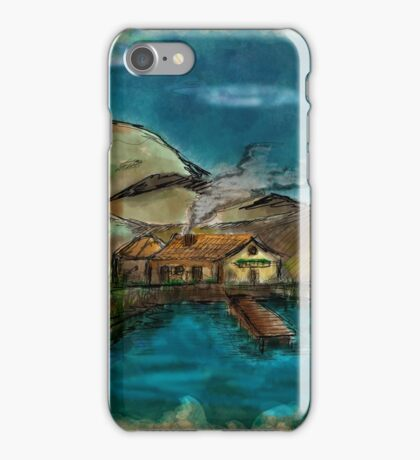 The House between Mountains and Lake iPhone Case/Skin