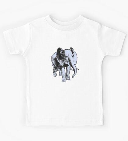Cool Tusked Elephant Kids Tee