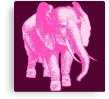 Big Pink Elephant Canvas Print