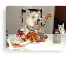 Ahhh, sausages. Canvas Print