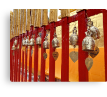 Temple fence Canvas Print