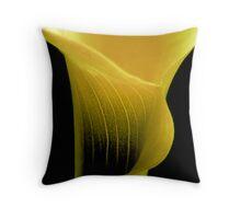 yellow calla ... Throw Pillow