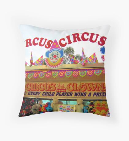 Circus Circus Throw Pillow