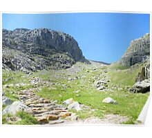 The Lake District: Looking up to Scafell Poster