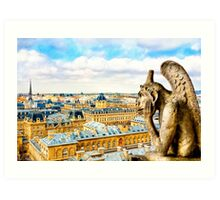 Paris - Oh Hum! - Parisian Gargoyle Art Print