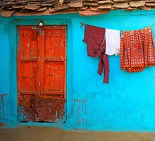 Turquoise and Orange by Jill Fisher
