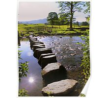 The Lake District: Stepping Stones Over the River Rothay Poster