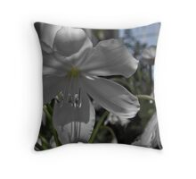 Glasshouse Orchid Throw Pillow
