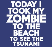 Today I took my zombie to the beach by onebaretree