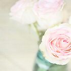 Roses In Blue Jar by AndreaMcClain