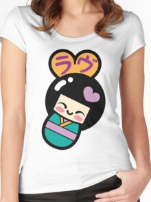 Kokeshi Love Women's Fitted Scoop T-Shirt