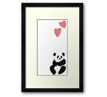 Love panda Framed Print