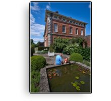 Looking for fish at Beningborough Hall Canvas Print