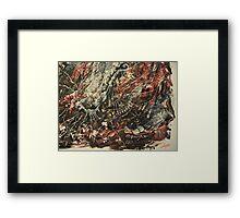 December Heartbreak oil on canvas Framed Print