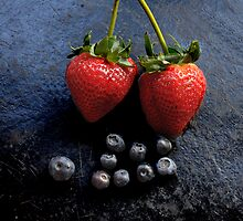 of slate and fruit II by jon  daly
