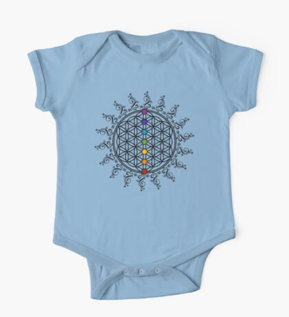 FLOWER OF LIFE, CHAKRAS, SPIRITUALITY, YOGA, ZEN,  One Piece - Short Sleeve