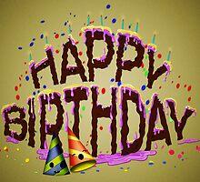 Happy Birthday Cake by OkoLaa